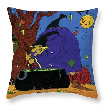 Witch's Brew Throw Pillow