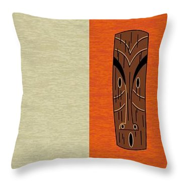 Witco Tikis 1 Throw Pillow