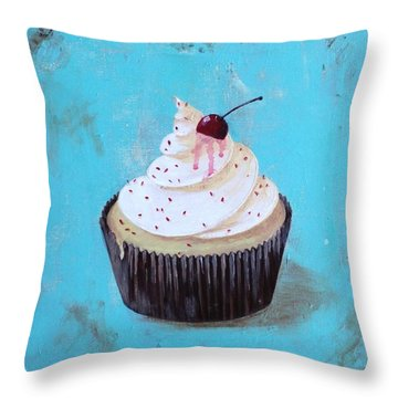 With A Cherry On Top Throw Pillow