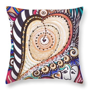 With Deep Thoughts And Tears - Vii Throw Pillow