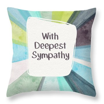 With Deepest Sympathy- Art By Linda Woods Throw Pillow