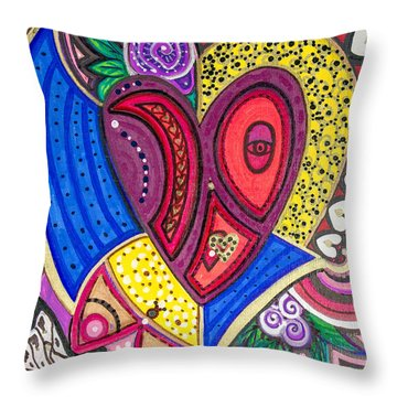 With Eyes Half Open Throw Pillow