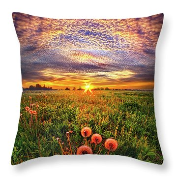 Throw Pillow featuring the photograph With Gratitude by Phil Koch