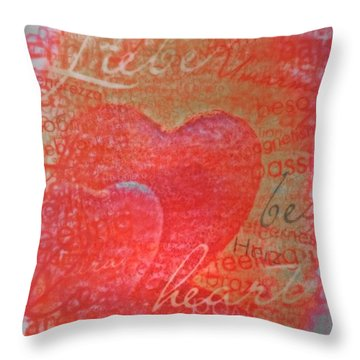 With Heart Throw Pillow