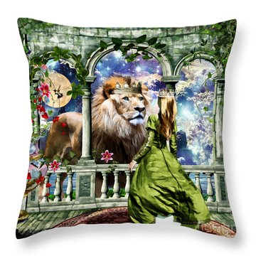 With Him I Speak Face To Face Throw Pillow by Dolores Develde