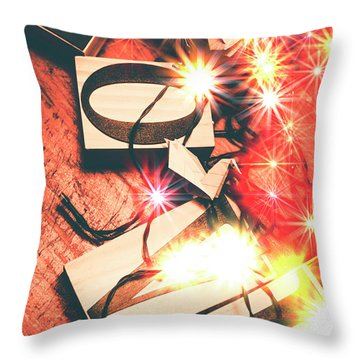 With Love And Lights Throw Pillow