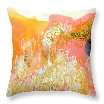 With Only Trepidation Throw Pillow