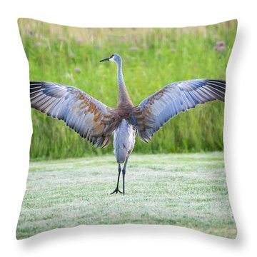 With Open Arms Throw Pillow
