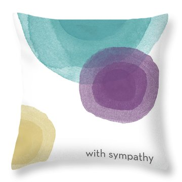 With Sympathy Circles- Art By Linda Woods Throw Pillow