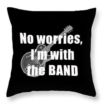 With The Band Tee Throw Pillow