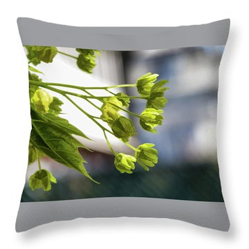 With The Breeze - Throw Pillow