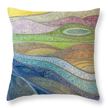 With The Flow Throw Pillow