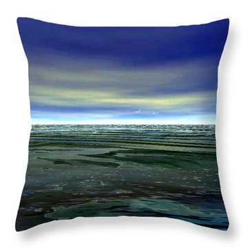 With The Incoming Tides Throw Pillow by Julie Grace