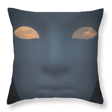 With The Sky In The Eyes Throw Pillow by Cesare Bargiggia