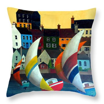 With The Wind In Kinsale, West Cork Throw Pillow
