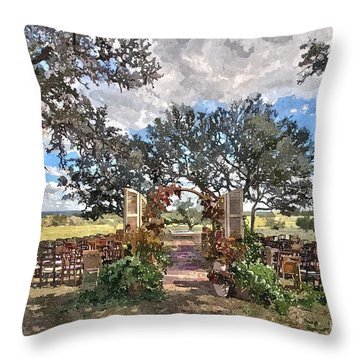 With This Ring... Throw Pillow