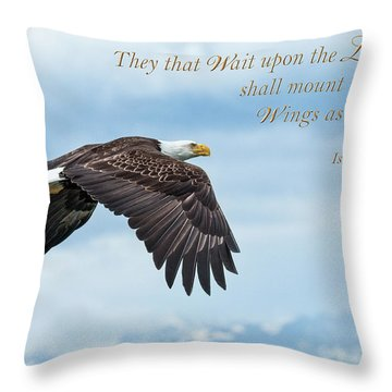 With Wings As Eagles Throw Pillow