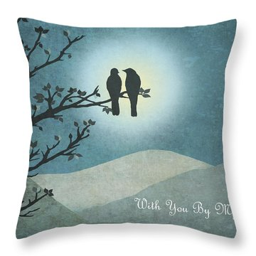 Throw Pillow featuring the digital art With You By My Side Landscape View by Christina Lihani
