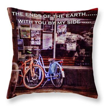 With You By My Side Throw Pillow