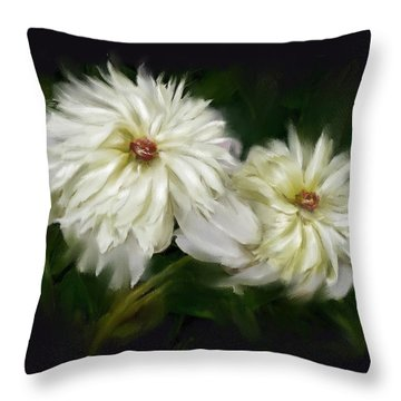 Throw Pillow featuring the painting Withering Peony by Bonnie Willis