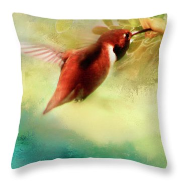 Within An Instant Throw Pillow by Janie Johnson
