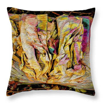 Within Pages Of Gold Throw Pillow