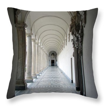 Within The Castle Walls Throw Pillow