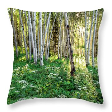Within The Forest Deep Throw Pillow