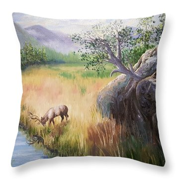 Within Yellowstone Throw Pillow