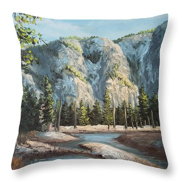 Within Yosemite Throw Pillow