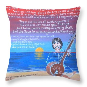 Within You Without You Throw Pillow