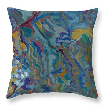 Throw Pillow featuring the painting Without Limitations by John Keaton