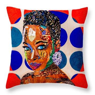 Without Question - Danai Gurira I Throw Pillow