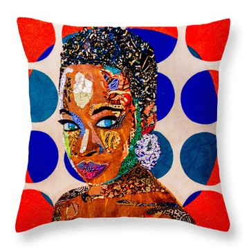 Without Question - Danai Gurira I Throw Pillow