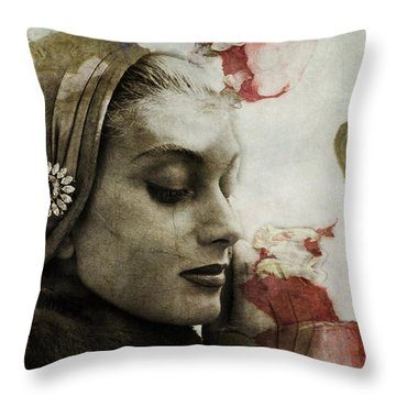Throw Pillow featuring the mixed media Without You  by Paul Lovering