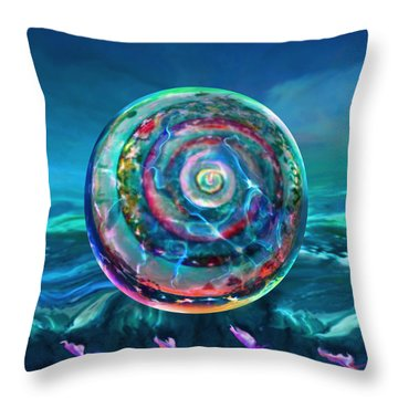 Throw Pillow featuring the painting Withstanding Orby Weather by Robin Moline