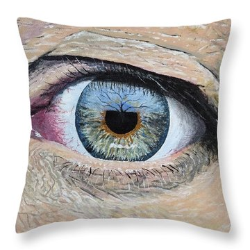 Throw Pillow featuring the painting Witness by Kevin Daly