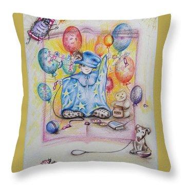 Wizard Boy Throw Pillow