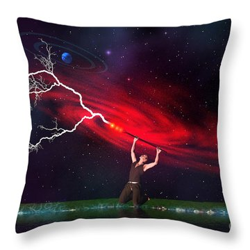 Wizard Throw Pillow by Corey Ford