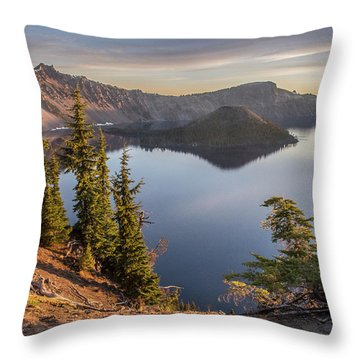 Wizard Island Beauty Throw Pillow