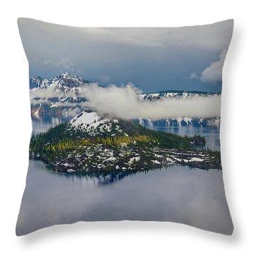 Wizard Island Throw Pillow