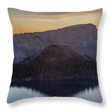 Wizard Island Morning Throw Pillow