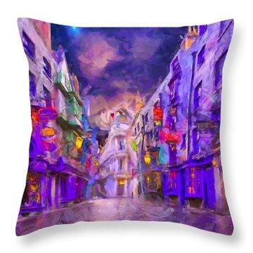 Wizard Mall Throw Pillow