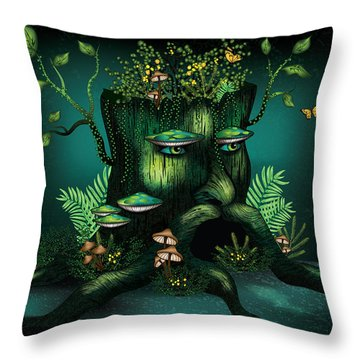Wizard Stump Throw Pillow by Serena King
