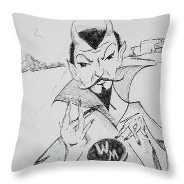 Wm Blue Devils Sign Throw Pillow