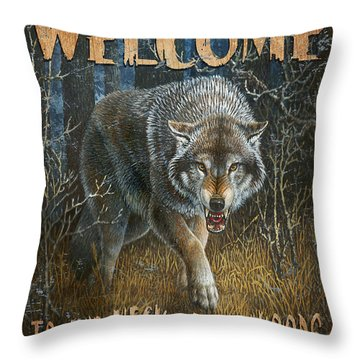 Wold Neck Of The Woods Throw Pillow by JQ Licensing