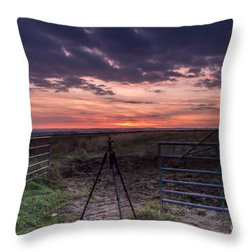 Wolds Sunset 2 Throw Pillow