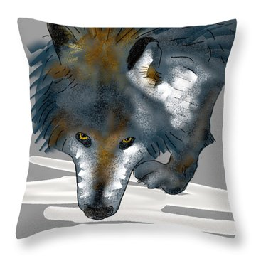 Wolf. Throw Pillow