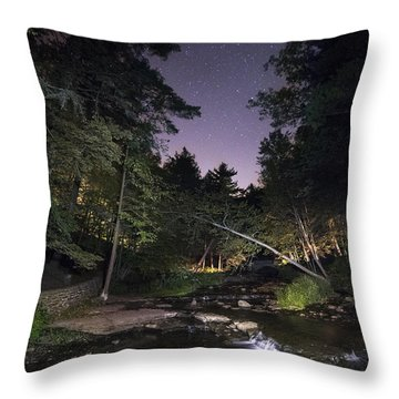 Throw Pillow featuring the photograph Wolf Creek Starry Night by Mark Papke