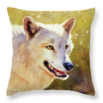 Wolf In Morning Light Throw Pillow